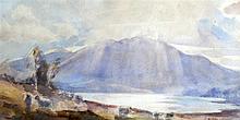 JOHN KID MAXTON (BRITISH), FRAMED WATERCOLOUR, signed, Mountainous Landscap
