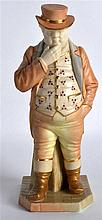A ROYAL WORCESTER FIGURE OF THE ENGLISHMAN 'JOHN BULL' C1905. 6.75ins high.