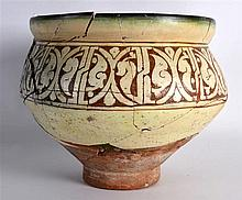 A Persian Jar, 10th/12th Century, decorated with geometric type motifs.