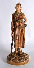 A ROYAL WORCESTER FIGURE OF A FEMALE BRIGAREE INDIAN C1903. 8.75ins high.