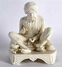 A RARE ROYAL WORCESTER FIGURE OF AN INDIAN CRAFTSMAN C1889 shape 1207. 5.25