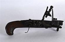 AN EARLY 19TH CENTURY FLINTLOCK PERCUSSION PISTOL stamped Riley. 6.75ins wi