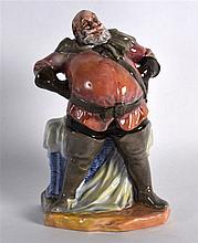 A ROYAL DOULTON FIGURE OF FALSTAFF Hn 2045. 7.25ins high. Note: Unusually t