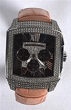 A RARE MAUBOUSSIN DIAMOND AND ENAMEL WRISTWATCH No 264, of large proportion