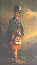 A PRINT OF A SCOTSMAN ON A ROCK, together with various prints etc. (qty)