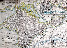 An Unframed map of the Crimea. 1 ft 6ins x 2 ft 1ins.