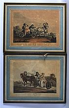 AFTER MORNAY, BY CLARK & DUBOURGH, Set of 8 Framed Aquatints, Russian Sledg