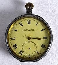 A VICTORIAN ENGLISH SILVER POCKET WATCH retailed H Samuel Manchester. 2Ins