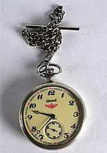 AN UNUSUAL VINTAGE RUSSIAN INGERSOLL POCKET WATCH the reverse decorated in