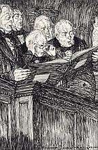 EDMUND J SULLIVAN (1869-1933), An unframed Etching, A Group of Men Studying