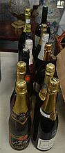 FOURTEEN BOTTLES OF CHAMPAGNE AND SPARKLING WINE. (14)