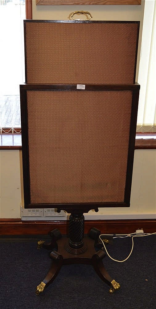 A regency three way fire screen 3 ft 8ins for Three way fireplace