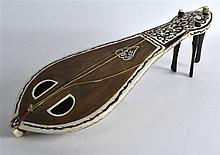 A 19TH CENTURY TURKISH CARVED IVORY AND TORTOISESH