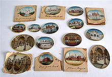 A LOVELY COLLECTION OF ANTIQUE PAINTED IVORY MINIA