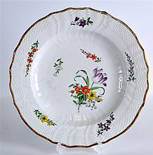 AN 18TH CENTURY ROYAL COPENHAGEN PLATE painted wit
