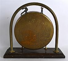 AN UNUSUAL EARLY 20TH CENTURY ENGRAVED BRASS 'PIXI