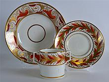 A 19TH CENTURY DERBY CHOCOLATE CUP AND STAND paint