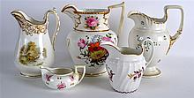 A GROUP OF GOUR 19TH CENTURY ENGLISH PORCELAIN JUG