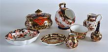 A COLLECTION OF ANTIQUE ROYAL CROWN DERBY includin