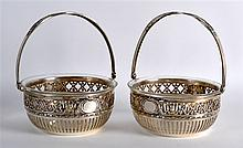 A PAIR OF LATE 19TH CENTURY CONTINENTAL SILVER BAS