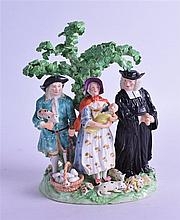 AN 18TH CENTURY DERBY FIGURAL GROUP,