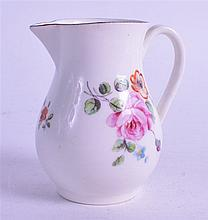 A RARE DERBY SPARROWBEAK JUG, painted with a large rose. 8 cm high.
