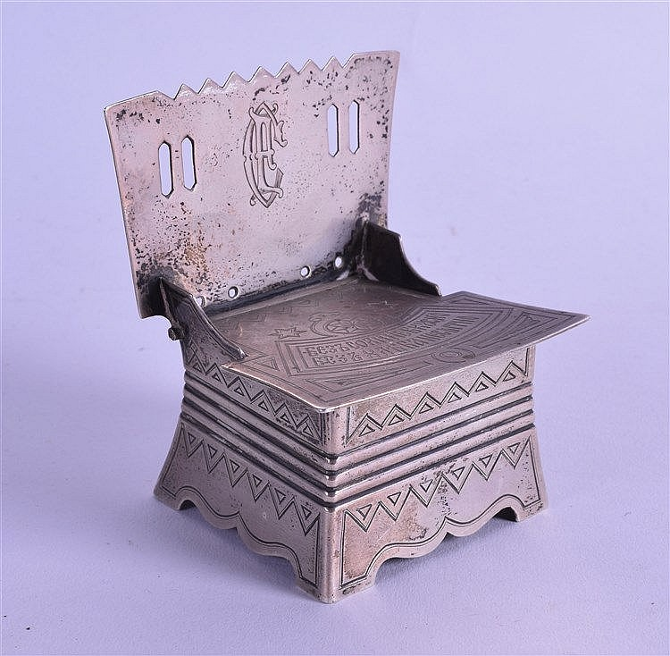 an unusual 19th century russian table salt box in the form o