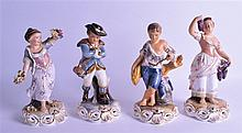 A SET OF FOUR ROYAL CROWN DERBY BOXED FIGURES 'THE FOUR SEASONS'. Each 23.5 cm high. (4)