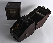 A VINTAGE CASED BUBBLE SEXTANT MK IX together with