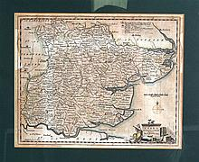 Map of Essex, T Kitchin, Framed and Glazed. 11Ins