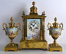 A LATE 19TH CENTURY FRENCH PORCELAIN AND GILT META