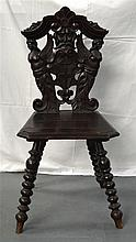 AN UNUSUAL VICTORIAN CARVED WOOD SINGLE CHAIR form