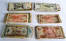 A COLLECTION OF MIXED WORLD BANK NOTES approximate
