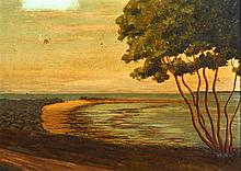 D RATCLIFFE (1987) English, Oil on Board, Coastal