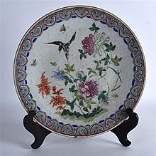 A 19TH CENTURY CHINESE FAMILLE ROSE PORCELAIN DISH