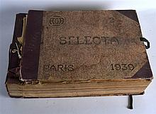 A VERY UNUSUAL 1930S FRENCH FOLIO inside formed wi