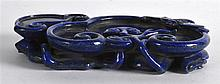 A CHINESE CARVED LAPIS LAZULI BRUSH WASHER Qing/Re