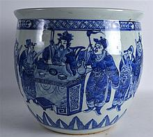 A 19TH CENTURY CHINESE BLUE AND WHITE PORCELAIN JA