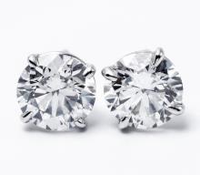 Brilliant Diamond Studs GIA 2.21 Carats