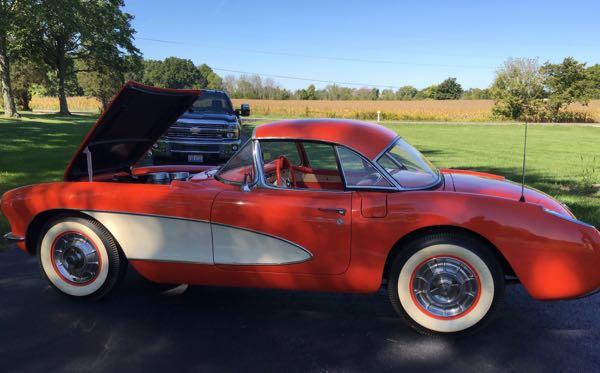 1957 Chevy Corvette  270/283 4spd  Venetian Red