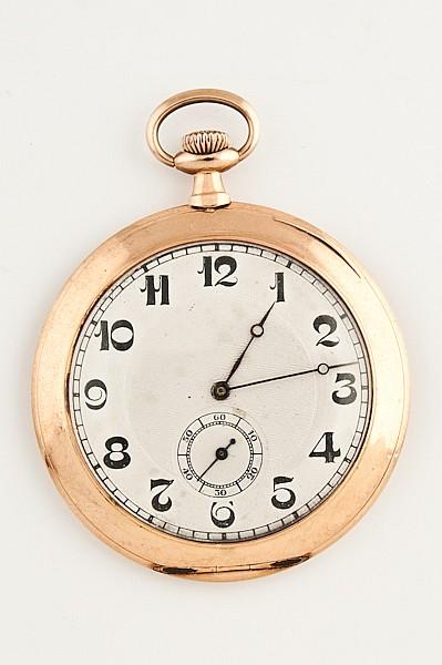 A Gold Rebberg W Co. Swiss Pocket Watch,