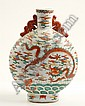 A Large Qing Moon Flask Vase,