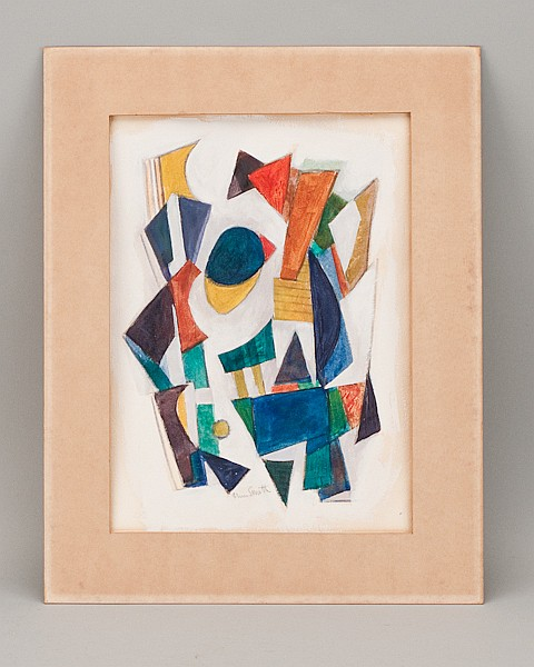 Charles William Smith, 1893-1987, Virginia, Abstract Composition, gouache on paper, 15 1/2