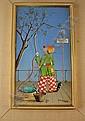 Alfano Dardari 1924-1988, Italian, Clown, oil on board., Alfano Dardari, Click for value