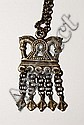 Kaleva Koru Bronze Necklace with Double Horsehead Design, from Finland.