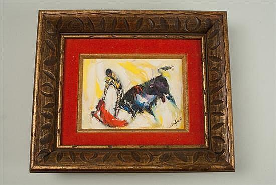 Ted (Ettore) DeGrazia, 1909-1982, Arizona, The Bullfighter, an impasto oil on canvas, 5