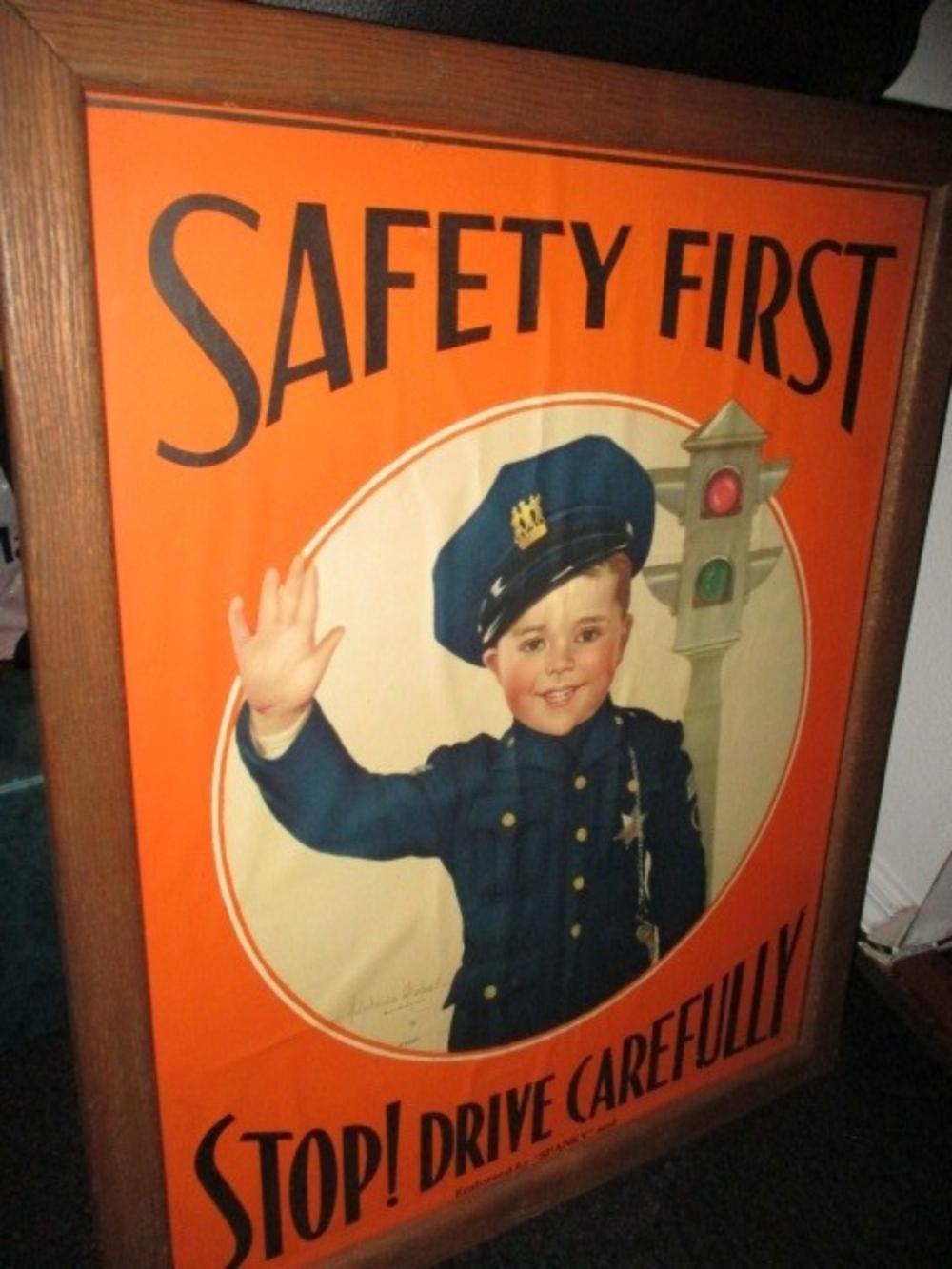 "Spanky MacFarland National Safety Counsel Original Poster 29""x23"""