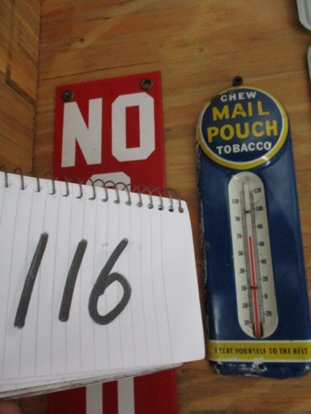 "Chew Mail Pouch Thermometer 8""x3"""