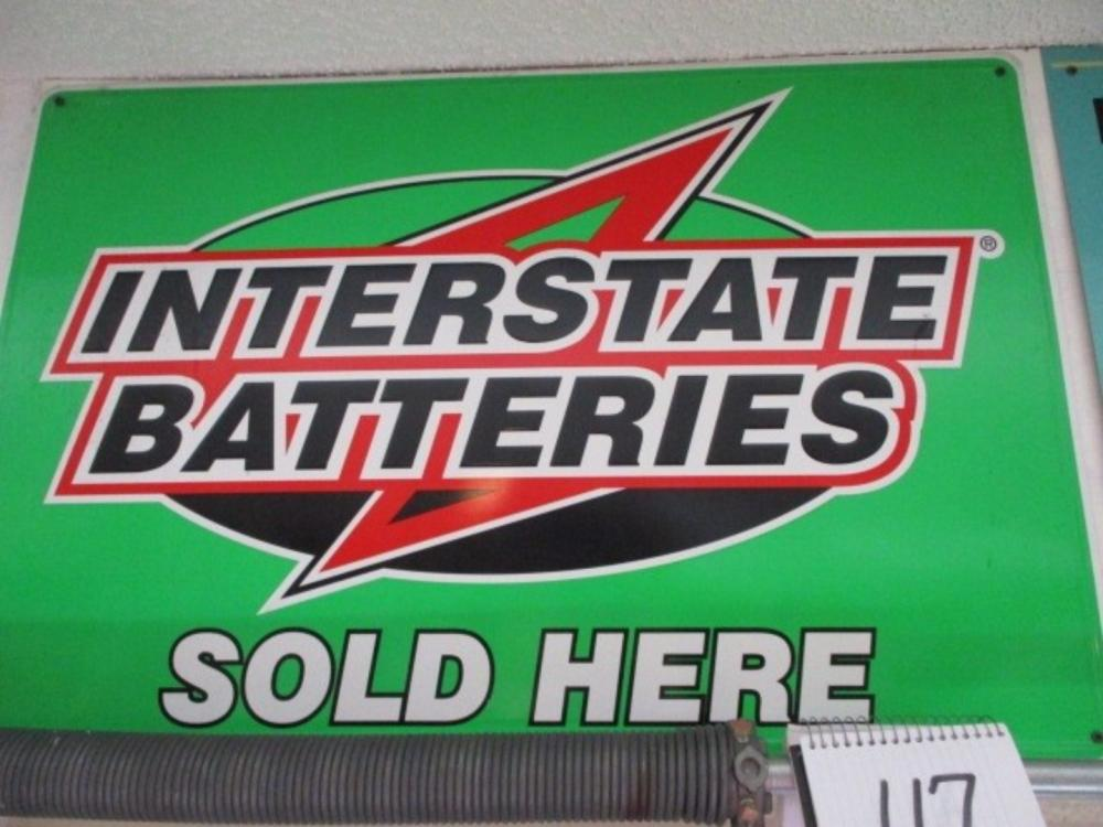 Interstate Batteries Sold Here Sign