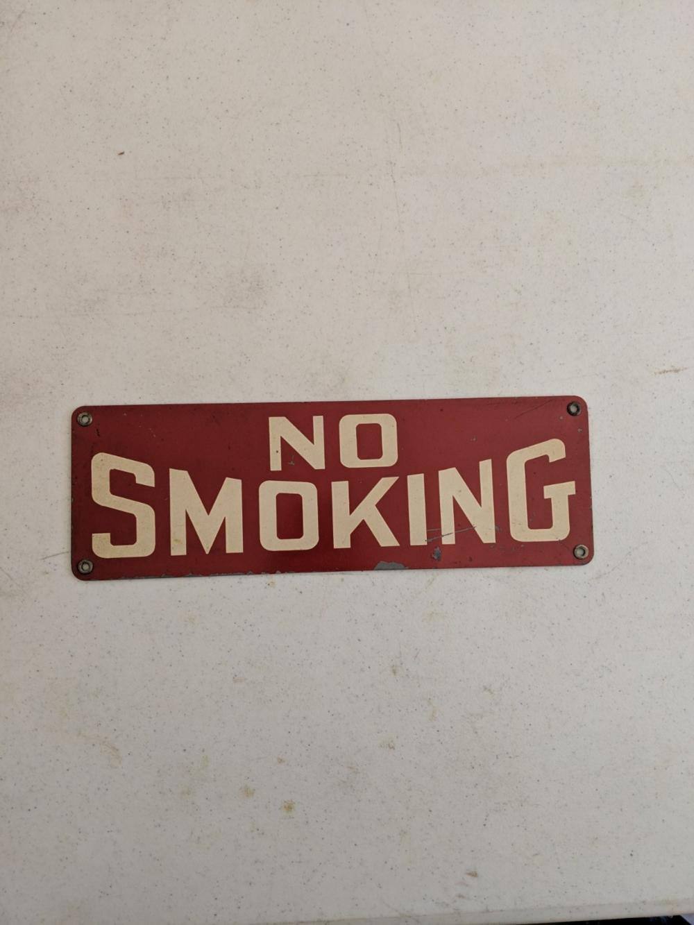 Small No Smoking Sign
